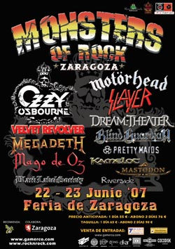 Cartel del monsters of rock