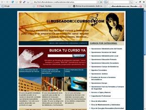 Ejemplo de diseño centrado: www.elbuscadordecursos.com