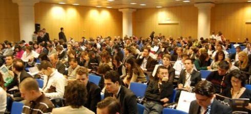 Mucha gente en todos los actos del OME 2008